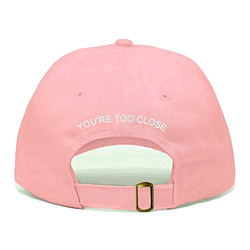 Hat, Embroidered Baseball Cap, 100% Cotton, Unstructured Low Profile, Adjustable Strap Back, 6 Panel, One Size Fits Most (Multiple Colors) (Light Pink) ()