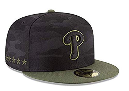 New Era Philadelphia Phillies 2018 Memorial Day On-Field 59FIFTY Fitted Hat (7 5/8) - 7 5/8 Green/Camo