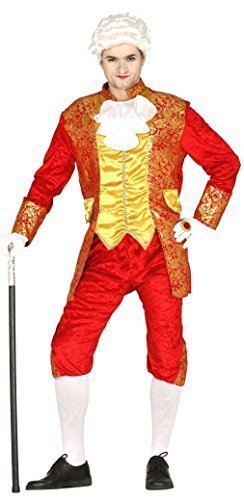 Mens Red Lord Count Posh Aristocrat Earl Duke Velvet Historical Fancy Dress Costume Outfit ... (Medium) (Aristocrat Costume Kids)
