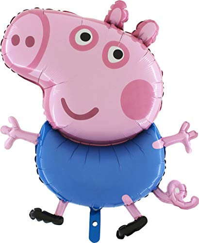 (Toyland 37 Inch Giant Jumbo Size Peppa Pig Characters -Peppa Or George- Foil Balloon - Kids Party Balloons (George Pig))
