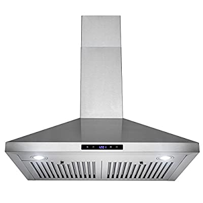 "FIREBIRD New 30"" European Style Wall Mount Stainless Steel Range Hood Vent W/ Touch Control"