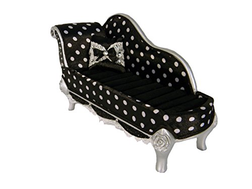 Polka Dot Romance Lounge Chair Ring Holder- Black (Designs Kitchen Lounge)