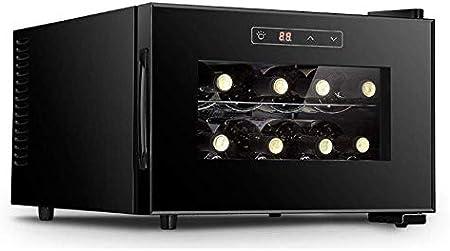 Gabinete de Vino para el hogar pequeño, Puede almacenar 12 Botellas con Control de Pantalla táctil 11-18 ℃ Bajo Nivel de Ruido Bajo Consumo de energía Tamaño reducido