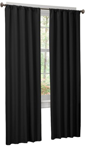 Maytex Micro Fiber Window 2-Pack Panels, 40 Inch X 84 Inch, Black