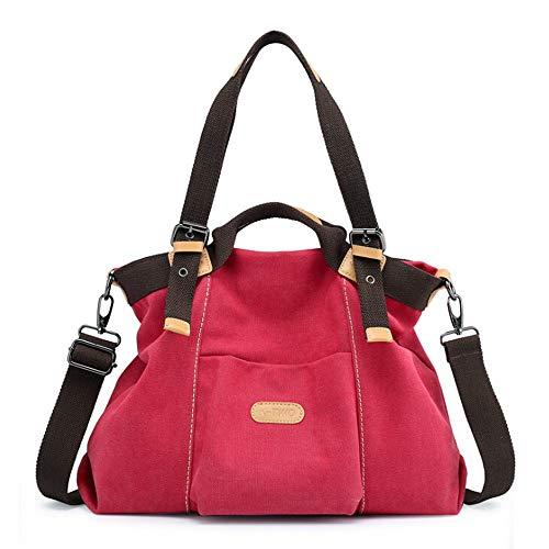 Señora Bolso Mujer,bandolera Color Sólido Rojo Mujer bolsos Casual Shopper,bolso Vehom De Lona bolsa Bandolera Rd Móvil Lona Tote Para Axxwqda