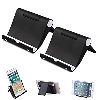 Elimoons Phone Stand, 2 Pack Multi-Angle Cell Phone Stand Tablet Stand Universal Smartphones for Holder Tablets(6-11…