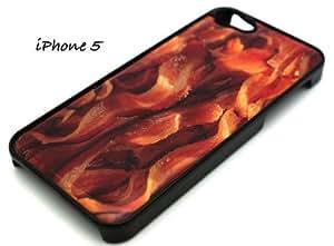 BLACK Snap On Case iphone 5c Plastic - Bacon food hamburger pig ketchup baconator