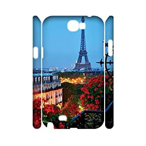 Clzpg 3D Personalized Samsung Galaxy Note2 N7100 Case - Night view 3D cover case