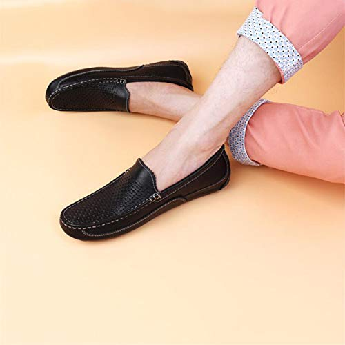 Perezosos Zapatos Hombre Zapatos Agujero Zapatos Mocasines Zapatos Cuero Zapatos Peas Mocasines Caminar Segundo Otoño y Primavera Slip para Zapatos de Travel Comfort Conducción YaXuan Ons wgUqEaO
