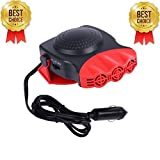 12 volt cigarette lighter heater - Portable Car Heater,Ferryone 30 Seconds Fast Heating Quickly Defrosts Defogger 12V 150W Auto Ceramic Heater Cooling Fan 3-Outlet(Red)