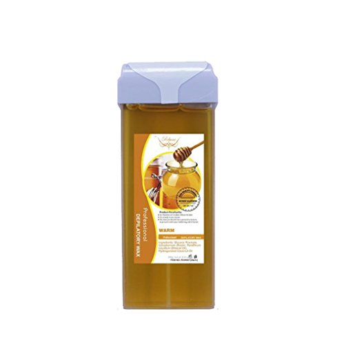 Vanvler Roll On Hot Depilatory Wax Cartridge Heater Waxing Hair Removal Natural (Gold)