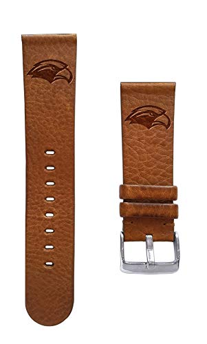 (Affinity Bands University of Southern Mississippi Golden Eagles 24mm Premium Leather Watch Band - 2 Lengths - 3 Leather Colors - Officially Licensed)