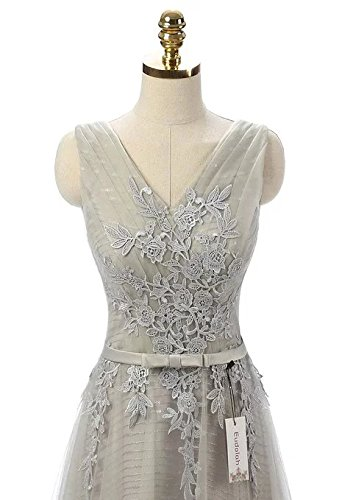 vickyben Elegant a-Line Sleevless Tull diseño de princesas de vestido de fiesta dama Dress Ballgown Prom Vestido Verde