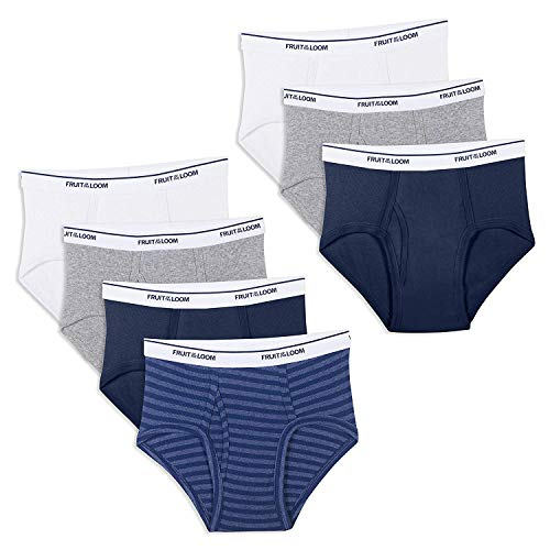 Fruit of the Loom Boys' Big' Cotton Brief (Multipack), Assorted, (X-Large, Assorted)