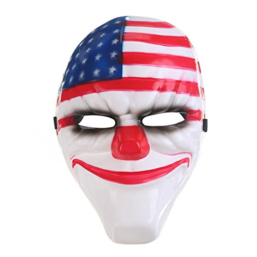 Halloween New Payday 2 Theme mask Game Harvest Day 2 Series high-end mask Clown mask -