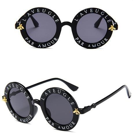 Amazon.com: Gafas de sol redondas retro para mujer, diseño ...