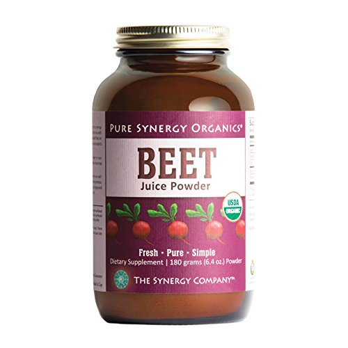 Pure Synergy USDA Organic Beet Juice Powder (6.35 oz) w/Naturally Occurring Nitrates, Non-GMO