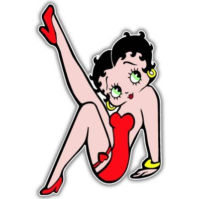 Betty Boop Red Dress Vynil Car Sticker Decal - Select Size