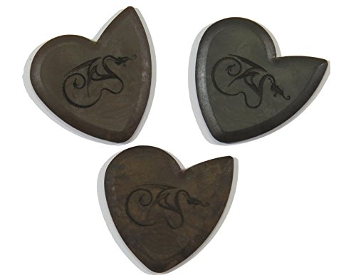 Dragon's Heart Guitar Picks Variety Pack (3) - Pure, Hardened, and Original | 2.5 mm Thick (Graphite Dragon)