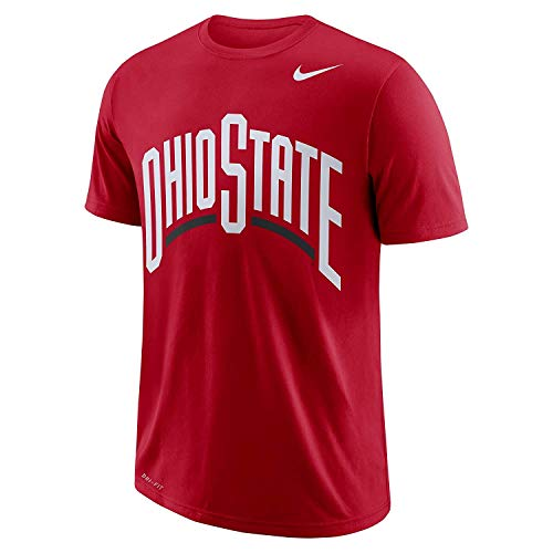 Nike Men's Ohio State College DFCT Wordmark T Shirt Red Size Small
