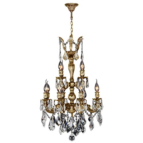 Worldwide Lighting Versailles Collection 12 Light French Gold Finish and Clear Crystal Chandelier 21