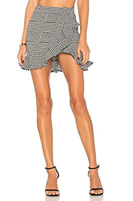 Lovers+Friends Affection Skirt Houndstooth Plaid