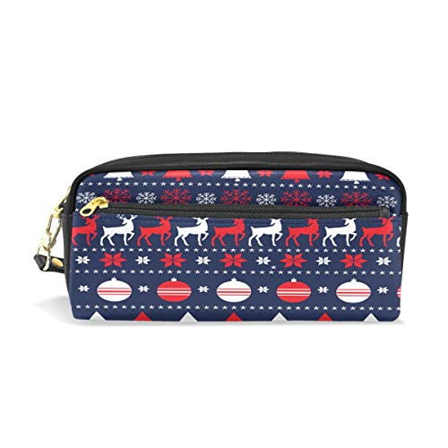 ALAZA Merry Christmas and Happy New Year Pencil Case Pen Bag