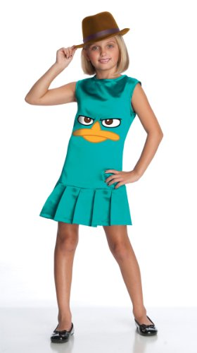 [Phineas and Ferb Sassy Agent P. Girls Costume - Medium] (Secret Agent Halloween Costume For Kids)