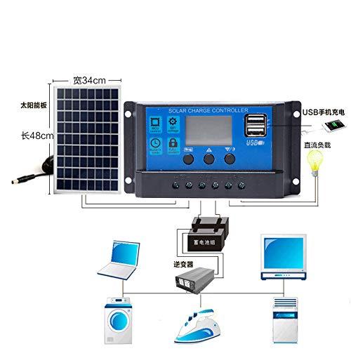 10//20//30A PWM Solar Panel Battery Regulator Charge Controller Dual USB 12V 24V