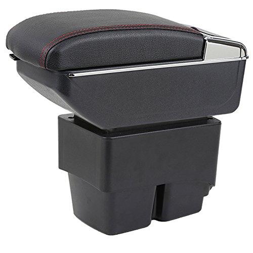 Reposabrazos de consola central para Ford Fiesta 3 MK7 reposabrazos caja de almacenamiento de coche consola organizador,...