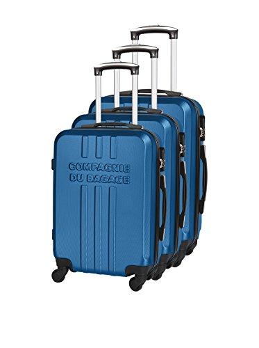 COMPAGNIE DU BAGAGE Set de 3 trolleys rígidos  Azul
