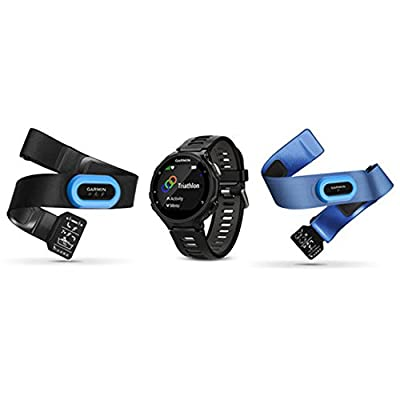 Garmin Forerunner 735XT GPS Running Watch - Black/Gray (010-01614-03) w/ Accessories Bundle Includes, Extreme Speed Charging Clip, Universal USB Travel Wall Charger & 1 Piece Micro Fiber Cloth
