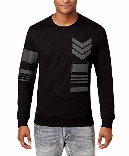 INC International Concepts Men's Geometric Graphic Print Long Sleeve T-Shirt (Deep Black, XL) from INC International Concepts