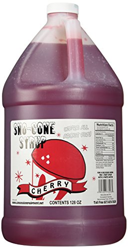 Concession Express Snow Cone Syrup 1 Gallon (Cherry)
