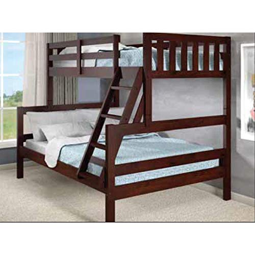 Donco Kids 1566-TFCP Austin Bunk Bed, Twin/Full, Dark Cappuccino ()