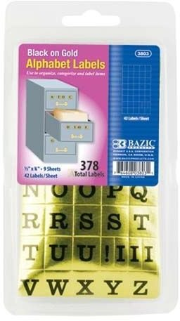 Alphabet Label 144 pcs sku# 1255032MA by DDI