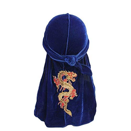 a7478a0608 Eyiou Unisex Men Women Velvet Durag Cap Headwrap with Long and Wide Straps  Durag Bandana (