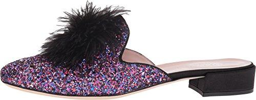 Kate Spade New Womens York Gala Slip-on Loafer Purple Glitter Satinato / Nero