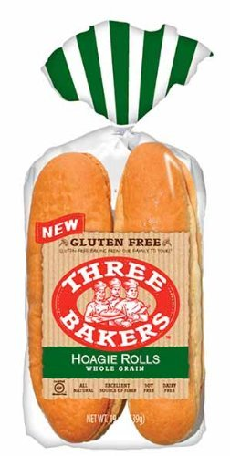 Three Bakers Gluten Free Whole Grain Gluten Free Hoagie Rolls (Pack of 3) 16oz