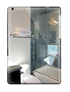 Air Scratch-proof Protection Case Cover For Ipad/ Hot Glass Enclosed Shower With Blue Mosaic Tile Walls Phone Case