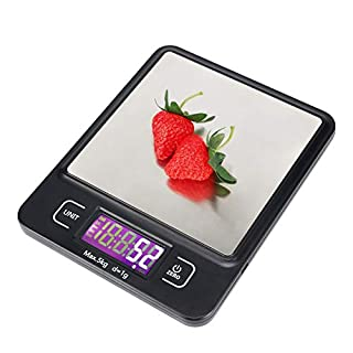 Anholi Food Scale 11lb Digital Kitchen Scale Weight Grams and oz for Cooking Baking,1g/0.1oz Precise Graduation,Large Backlit Display,Stainless Steel