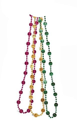 Love Beads Hippie (F61965 (Yel/Grn/Red) Hippie Peace Beads)