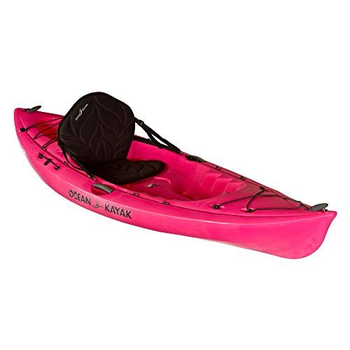 Ocean Kayak Venus 10 One-Person Women's Sit-On-Top Kayak, Fuchsia, 9 Feet 10 Inches