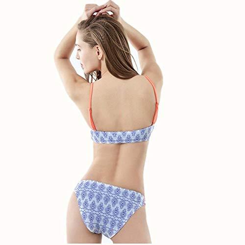 Donna Oudan colore Dimensione costume bikini Da Triangolare Xl Bikini Intero q7wT6BU