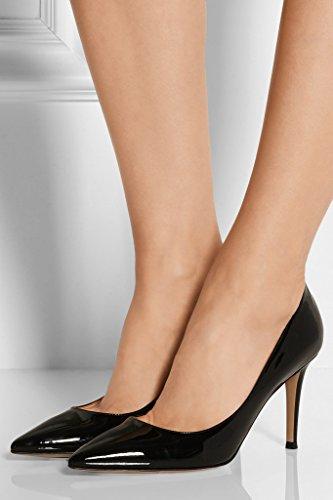 Col da elashe Scarpe Nero 8CM Donna Scarpe Tacco Col Tacco Classiche Scarpe FZAawBq