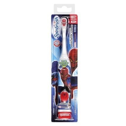 Arm & Hammer SpinBrush Kids Marvel Characters Powered Toothbrush, Spiderman 1 ea