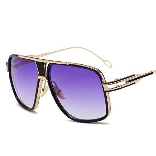 Con Los Elegantes Retro De Y Box Purple The Gafas De Sol Gradient Gafas Gafas Big Hombres Sol Sol Parejas Box WHLDK Redonda Cara De Estilo q4wd0q