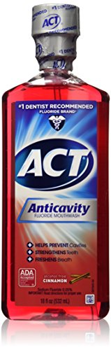 Accu-chek Compact Plus Act Alcohol Free Anticavity Fluoride Rinse, Cinnamon, 18 Fluid Ounce, 2 Count