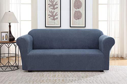 Casual Living Striae Sofa Slipcover, Blue