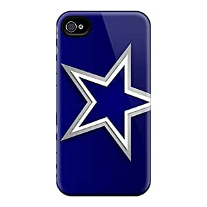 WonderTree Scratch-free Phone Case For Iphone 4/4s- Retail Packaging - Dallas Cowboys